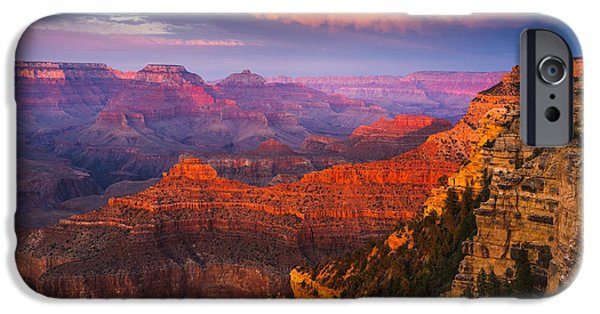 Grand Canyon iPhone Cases - Grand Canyon - The Heart of the Earth iPhone Case by Adam Schallau