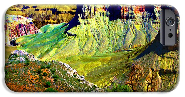 States iPhone Cases - Grand Canyon View from Kaibab Trail iPhone Case by  Bob and Nadine Johnston