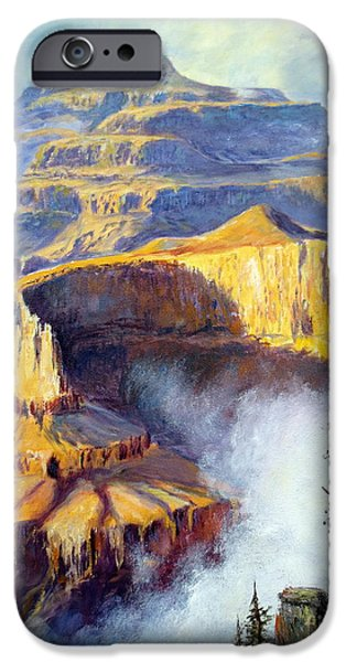 States iPhone Cases - Grand Canyon View iPhone Case by Lee Piper