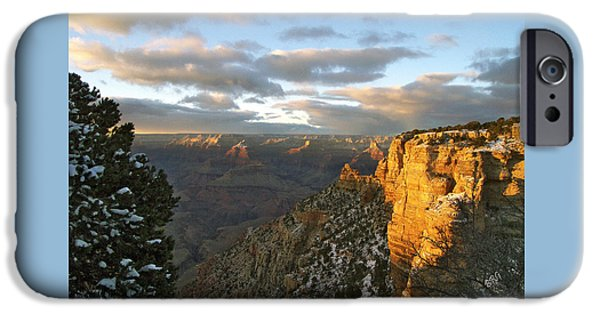Brg iPhone Cases - Grand Canyon. Winter Sunset iPhone Case by Ben and Raisa Gertsberg