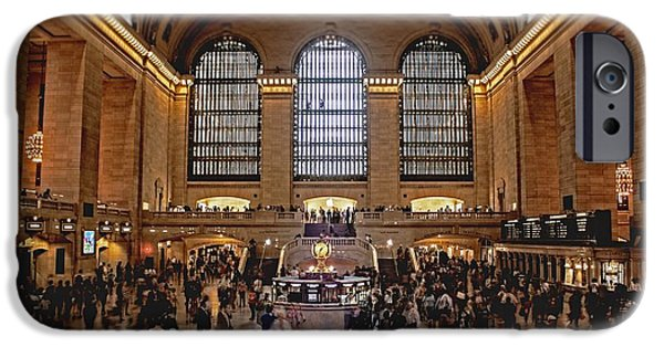 Pillars iPhone Cases - Grand Central iPhone Case by Andrew Paranavitana