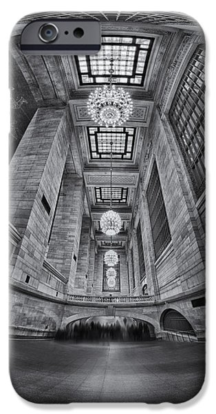 Grand Central Corridor BW iPhone Case by Susan Candelario