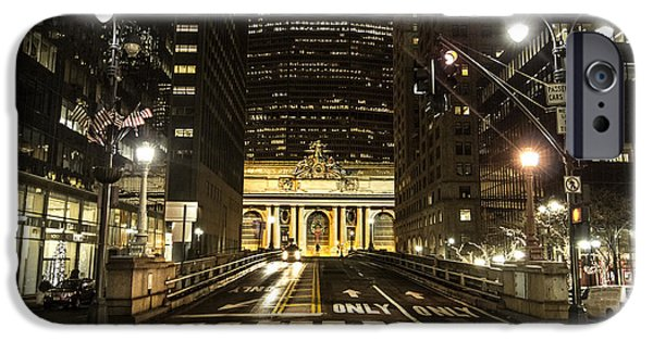 Nyc Pyrography iPhone Cases - Grand Central Station iPhone Case by Mason Pelt