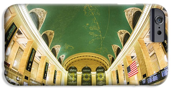Ceiling iPhone Cases - Grand Central Station New York City on its Centennnial  iPhone Case by Diane Diederich
