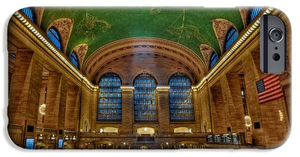 Railway Locomotive iPhone Cases - Grand Central Station iPhone Case by Susan Candelario