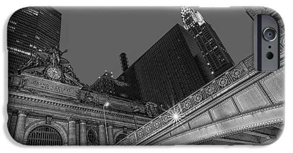 Clock iPhone Cases - Grand Central Terminal GCT NYC iPhone Case by Susan Candelario