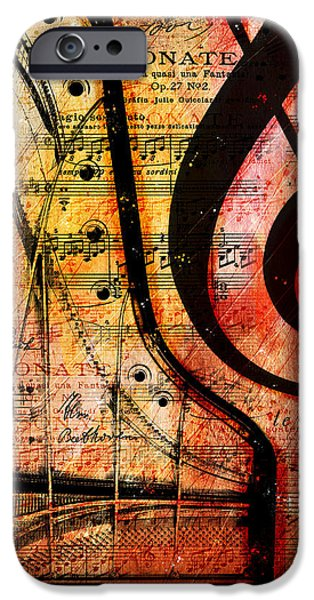 Piano Digital Art iPhone Cases - Grand Fathers iPhone Case by Gary Bodnar
