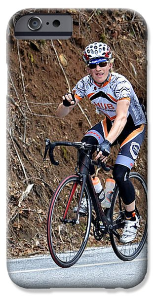 Grand Fondo Bike Ride iPhone Case by Susan Leggett