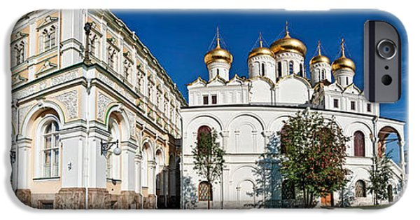 Annunciation iPhone Cases - Grand Kremlin Palace With Cathedrals iPhone Case by Panoramic Images