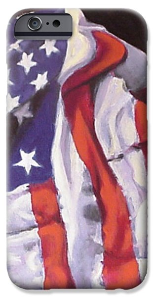 American Flag iPhone Cases - Grand Old Flag iPhone Case by David Zimmerman