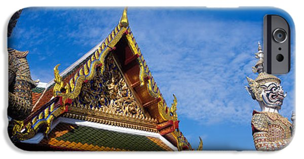 Tile Roofs iPhone Cases - Grand Palace, Bangkok, Thailand iPhone Case by Panoramic Images