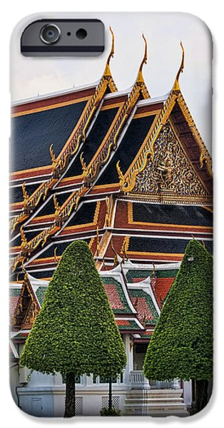 Bangkok iPhone Cases - Grand Palace Temple in Bangkok 2 iPhone Case by David Smith