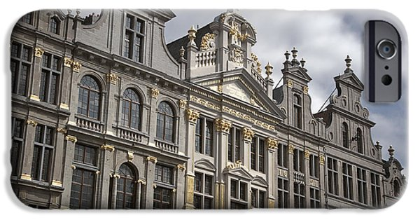 Guild iPhone Cases - Grand Place Detail iPhone Case by Joan Carroll