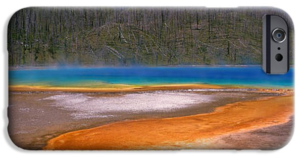 Alga iPhone Cases - Grand Prismatic Spring, Yellowstone iPhone Case by Panoramic Images