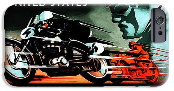 Motor Sport iPhone Cases - Grand Prix 1950 iPhone Case by Mark Rogan