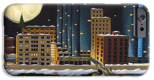 Michigan Paintings iPhone Cases - Grand Rapids iPhone Case by Christy Beckwith