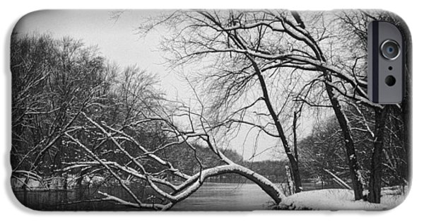 Wintertime iPhone Cases - Grand River in Winter iPhone Case by Randall Nyhof