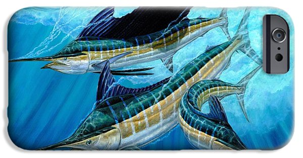 Sailfish Paintings iPhone Cases - Grand Slam And Foam iPhone Case by Terry Fox