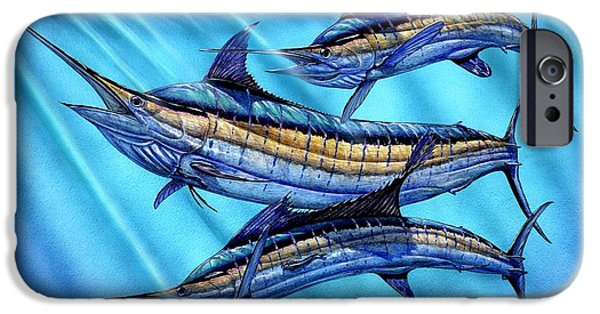Sailfish Paintings iPhone Cases - Grand Slam In The Wild iPhone Case by Terry Fox