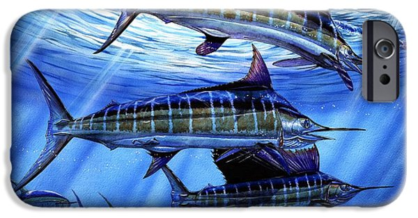 Marine iPhone Cases - Grand Slam Lure And Tuna iPhone Case by Terry Fox