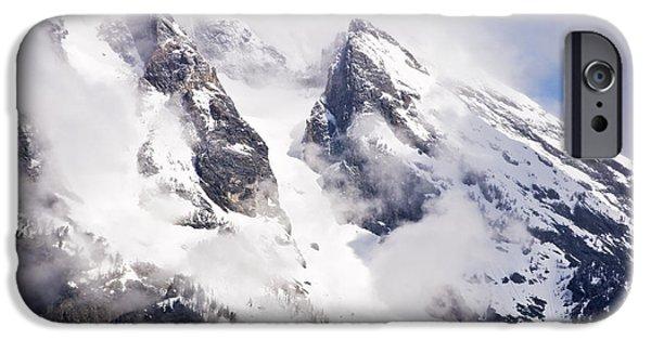 Winter Storm iPhone Cases - Grand Teton Glacier iPhone Case by Gene Norris