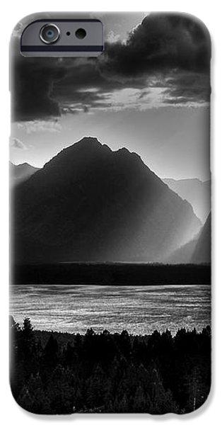 Grand Teton Light Beams iPhone Case by Aidan Moran