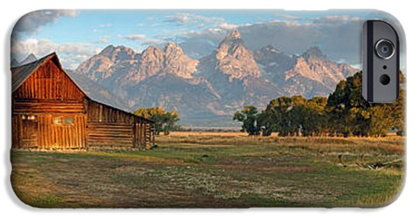 Shed iPhone Cases - Grand Teton Panorama iPhone Case by Nicholas Blackwell
