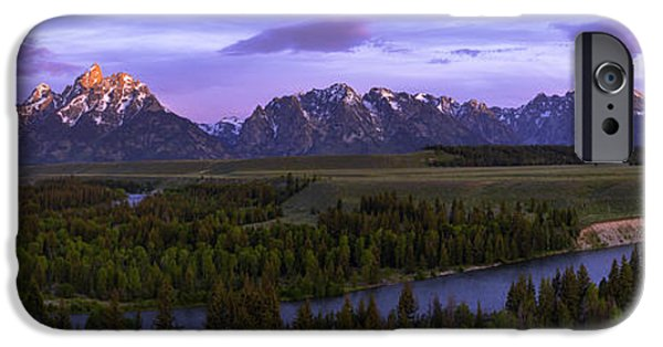 Twilight iPhone Cases - Grand Tetons iPhone Case by Chad Dutson