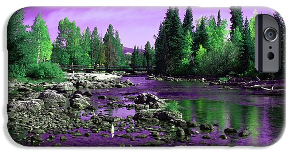 White River Scene Photographs iPhone Cases - Grand Tetons National Park  iPhone Case by Aidan Moran