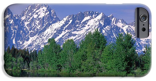 Snow iPhone Cases - Grand Tetons National Park Wy iPhone Case by Panoramic Images