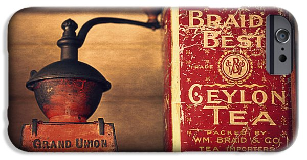 Old Grinders iPhone Cases - Grand Union Tea Company iPhone Case by Maria Angelica Maira