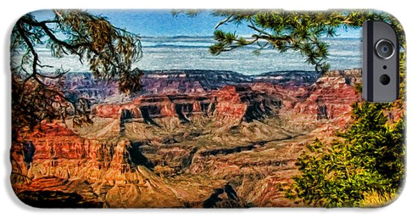 Grand Canyon Digital Art iPhone Cases - Grand View iPhone Case by Dale Jackson