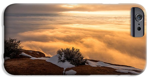 Fog Mist iPhone Cases - Grand View Glow iPhone Case by Chad Dutson