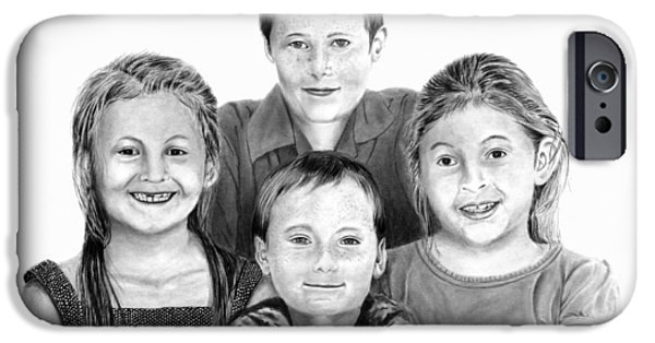 Missing Child iPhone Cases - Grandchildren Portrait iPhone Case by Peter Piatt