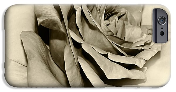 Floral Digital Art Digital Art iPhone Cases - Grandmas Rose iPhone Case by Kaye Menner