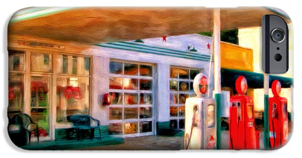 Gas Paintings iPhone Cases - Grandpas Texaco iPhone Case by Michael Pickett