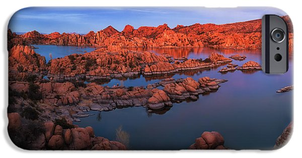 Watson Lake iPhone Cases - Granite Dells - 5 iPhone Case by Alex Mironyuk