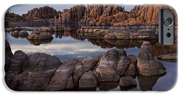 Prescott Arizona iPhone Cases - Granite Dells at Watson Lake Arizona iPhone Case by Dave Dilli