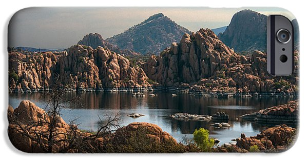 Watson Lake iPhone Cases - Granite Dells at Watson Lake iPhone Case by Tam Ryan