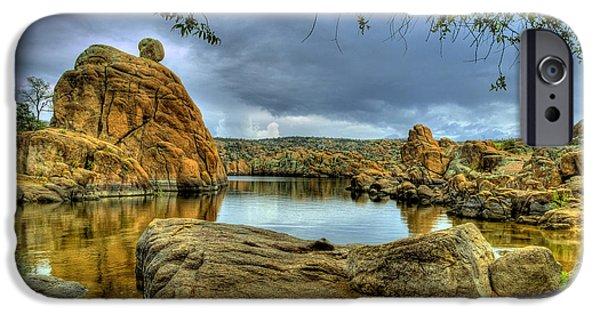 Prescott iPhone Cases - Watson Lake Prescott Arizona iPhone Case by K D Graves