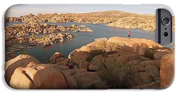 Watson Lake iPhone Cases - Granite Dells Panoramic 2 iPhone Case by Tam Ryan