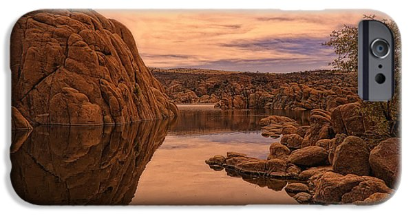 Watson Lake iPhone Cases - Granite Dells iPhone Case by Priscilla Burgers
