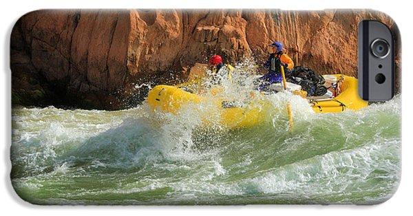 Raft iPhone Cases - Granite Rapids iPhone Case by Inge Johnsson
