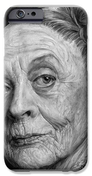 Duchess iPhone Cases - Grannies 12#05. Maggie Smith iPhone Case by Arual Jay
