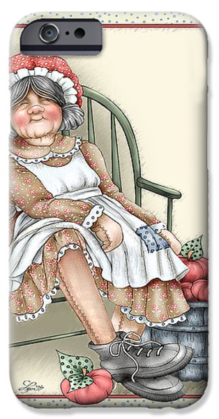 Rag Doll iPhone Cases - Granny Rag iPhone Case by Beverly Levi-Parker