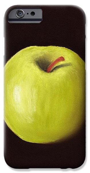 Office Pastels iPhone Cases - Granny Smith Apple iPhone Case by Anastasiya Malakhova
