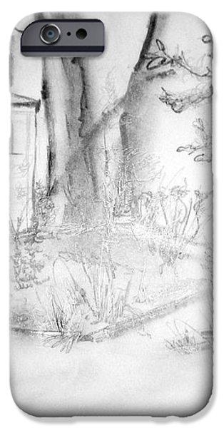 Granpa's Backyard III iPhone Case by Helena Bebirian