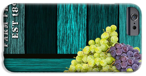 Grape iPhone Cases - Grape Sign iPhone Case by Marvin Blaine