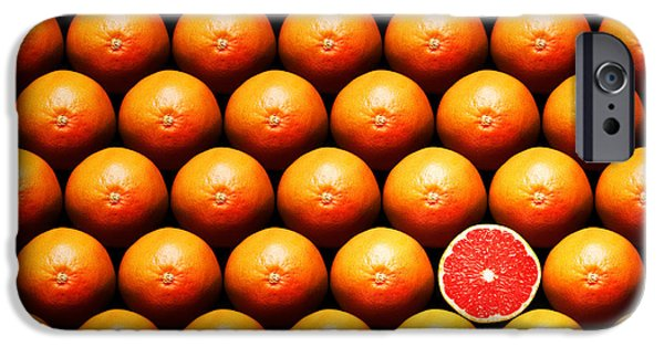 Stand iPhone Cases - Grapefruit slice between group iPhone Case by Johan Swanepoel