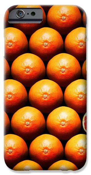 Grapefruit slice between group iPhone Case by Johan Swanepoel